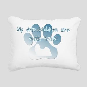 grandchildren_shihtzu Rectangular Canvas Pillow