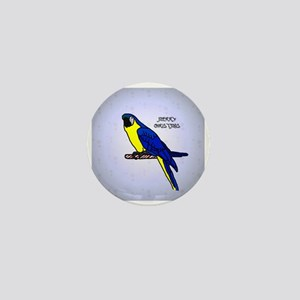 blue_gold_macaw_ornament Mini Button