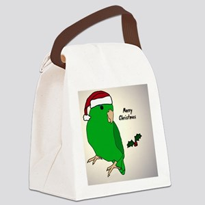 ornament_parrotlet_greenhen Canvas Lunch Bag