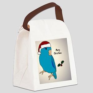 ornament_parrotlet_bluemale Canvas Lunch Bag