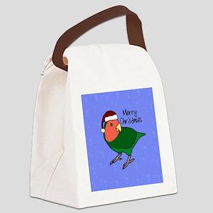 ornament_peachfaced Canvas Lunch Bag