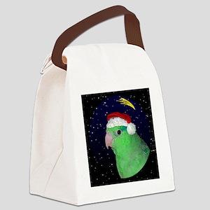 christmasnight_parrotlet Canvas Lunch Bag