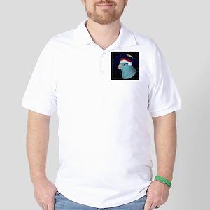 christmasnight_parrotletblue Golf Shirt