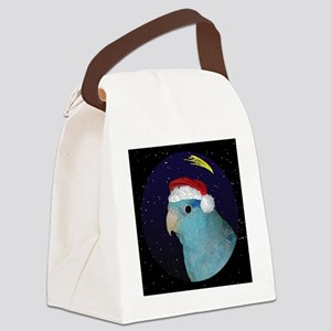 christmasnight_parrotletblue Canvas Lunch Bag