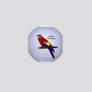 scarlet_macaw_ornament Mini Button