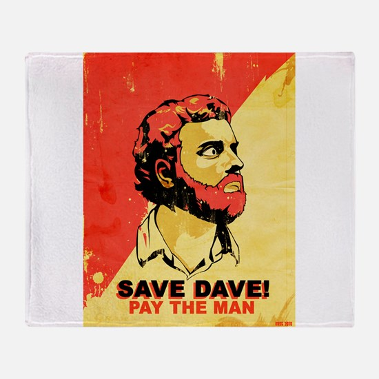 savedave.jpg Throw Blanket