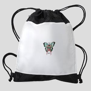 SIS Butterfly wo motto Drawstring Bag