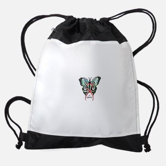 SIS Butterfly wo motto.jpg Drawstring Bag