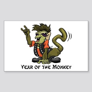 Funny Year of The Monkey Sticker (Rectangle)