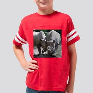 2 rhino Youth Football Shirt