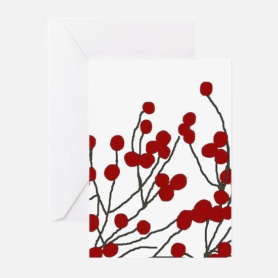 winterberries Blank Greeting Cards (Pk of 20)