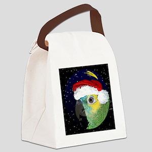 christmasnight_bluefrontedamazon Canvas Lunch Bag