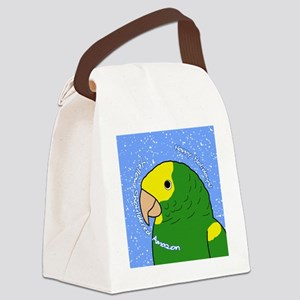 amazon_ornament_yellowshoulder Canvas Lunch Bag