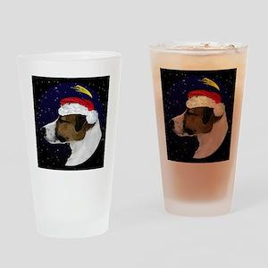 christmasnight_jackrussell Drinking Glass