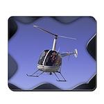 Helicopter Flying Aviator Mousepad
