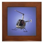Helicopter Flying Aviator Framed Tile