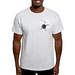 Helicopter Flying Aviator Light T-Shirt
