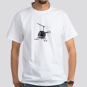 Helicopter White T-Shirt Helicopter T-shirts