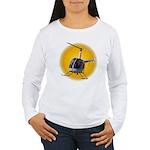 Helicopter Flying Avia Women's Long Sleeve T-Shirt