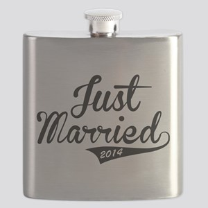 Just Married 2014 Flask