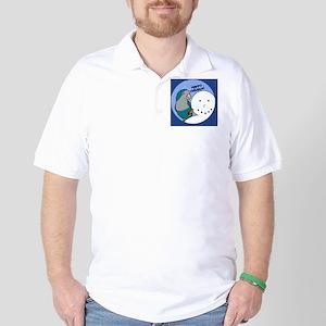snowman_quaker_blue Golf Shirt
