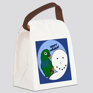 snowman_maxipionus Canvas Lunch Bag