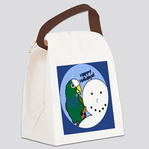 snowman_wcpionus Canvas Lunch Bag