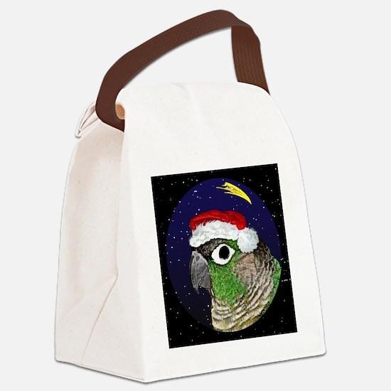 christmasnight_greencheekconure Canvas Lunch Bag