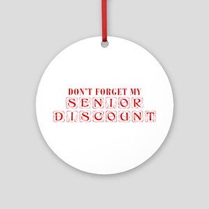 senior-discount-KON-RED Ornament (Round)