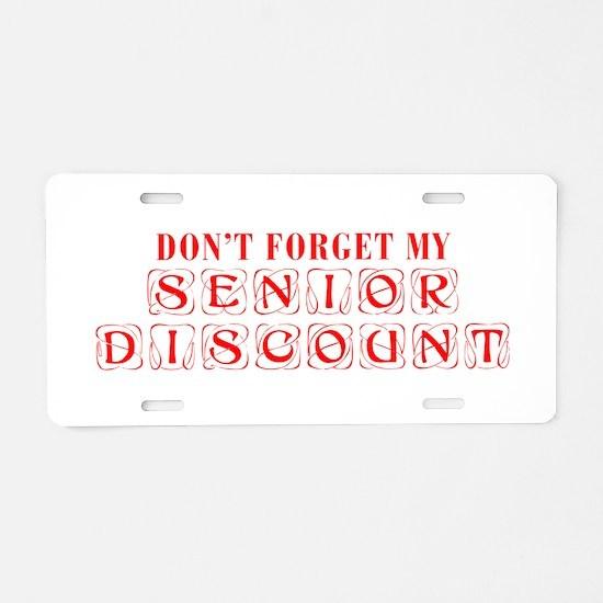 senior-discount-KON-RED Aluminum License Plate