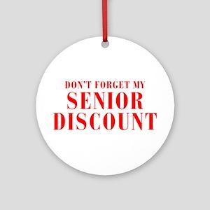 senior-discount-bod-red Ornament (Round)