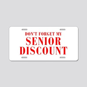 senior-discount-bod-red Aluminum License Plate