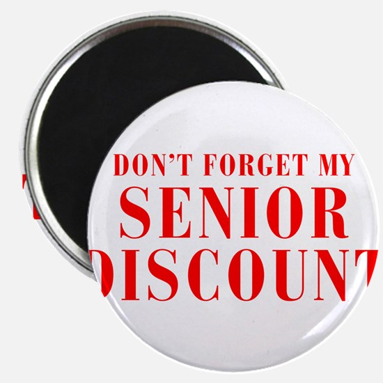 "senior-discount-bod-red 2.25"" Magnet (10 pack)"
