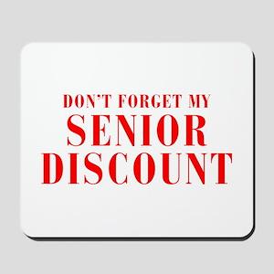 senior-discount-bod-red Mousepad