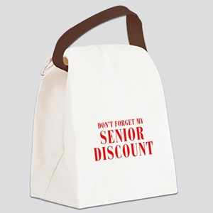 senior-discount-bod-red Canvas Lunch Bag