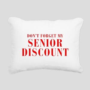 senior-discount-bod-red Rectangular Canvas Pillow