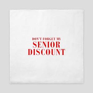 senior-discount-bod-red Queen Duvet