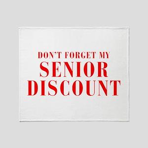 senior-discount-bod-red Throw Blanket