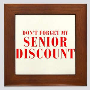 senior-discount-bod-red Framed Tile