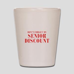 senior-discount-bod-red Shot Glass