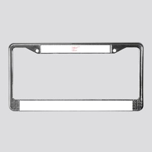 retired-nurse-scr-red License Plate Frame