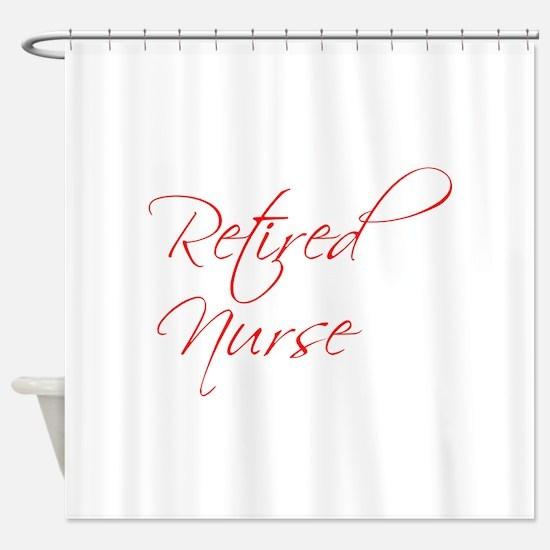 retired-nurse-scr-red Shower Curtain