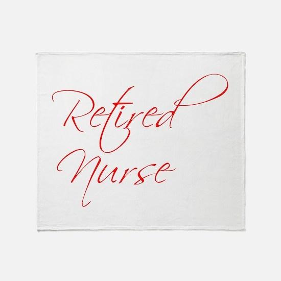 retired-nurse-scr-red Throw Blanket
