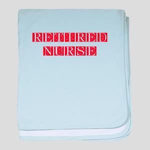 retired-nurse-FLE-RED baby blanket