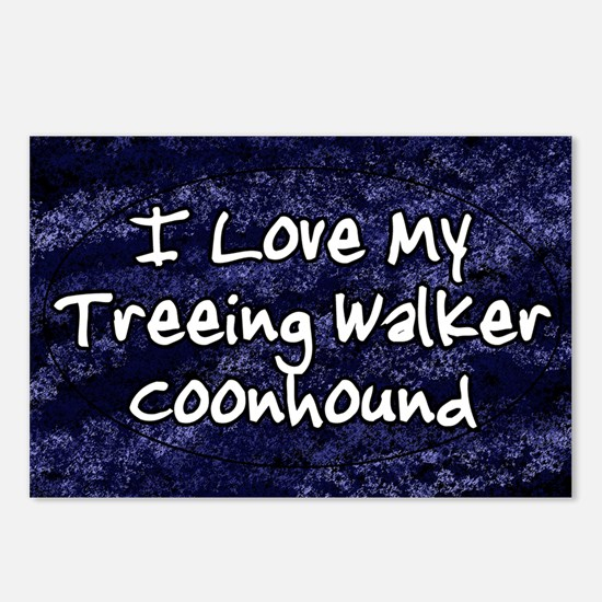 funklove_oval_treeingwalk Postcards (Package of 8)