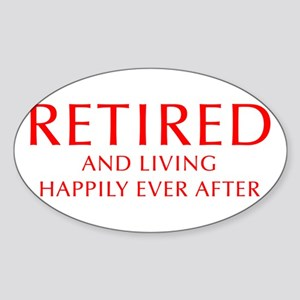 retired-and-living-happily-OPT-RED Sticker