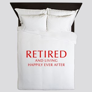 retired-and-living-happily-OPT-RED Queen Duvet