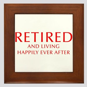 retired-and-living-happily-OPT-RED Framed Tile