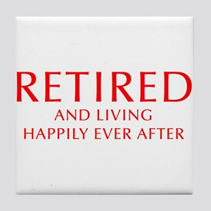 retired-and-living-happily-OPT-RED Tile Coaster