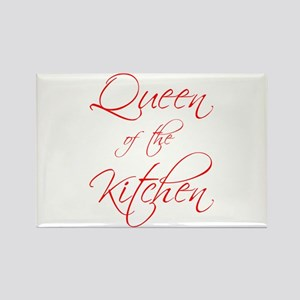 queen-of-kitchen-scr-red Rectangle Magnet